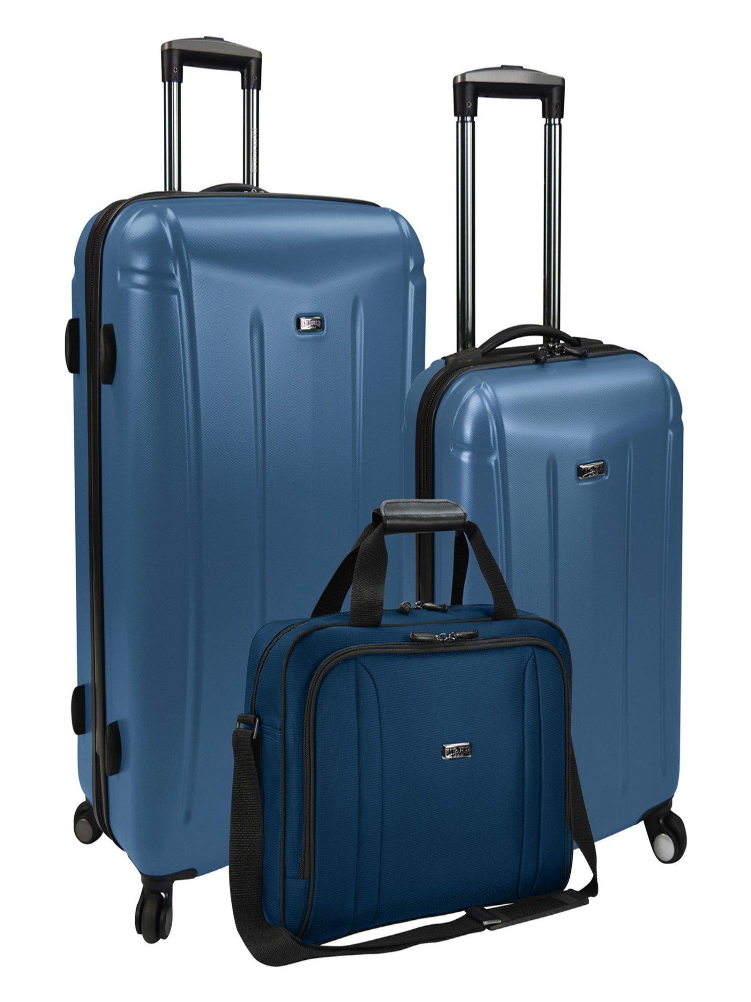 US Traveler Hytop 3 Piece Hybrid Luggage Set