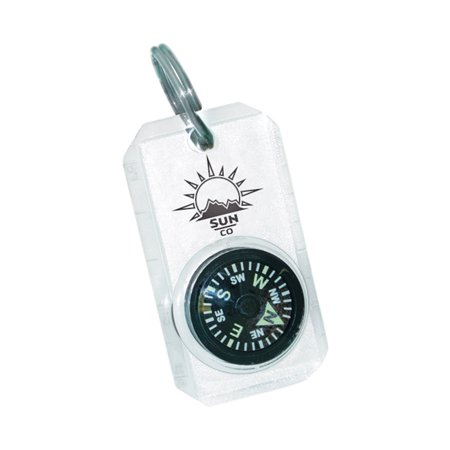 Jacket Compass - MiniComp - Zipperpull Mini Compass | Easy-to-Read Compass for Jacket, Parka, or Pack