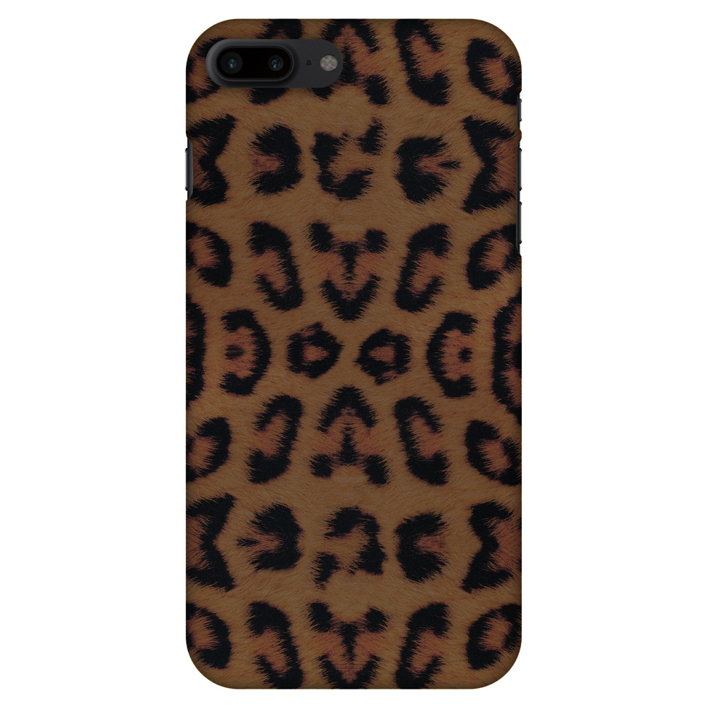 iPhone 8 Plus Case - Wild Leopard, Hard Plastic Back Cover. Slim Profile Cute Printed Designer Snap on Case with Screen Cleaning Kit