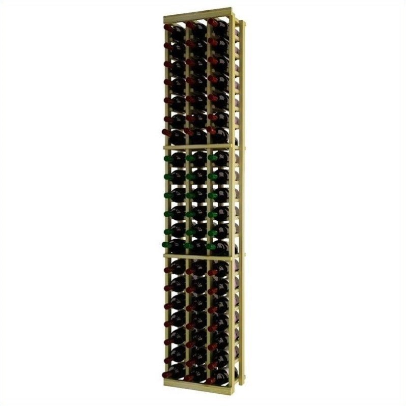 "Wine Cellar Innovations Traditional Series 72"" 3-Column Pine Wine Rack"
