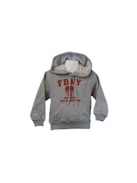 bf3bf4b2613 Product Image FDNY Kids Hoodie Red Print Sweatshirt Gray (Large(14-16))
