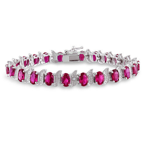 Amour Round and Oval Cut Gemstone Bracelet