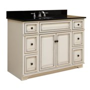 "Sunny Wood SL4821D Sanibel 48"" Maple Wood Vanity Cabinet Only"