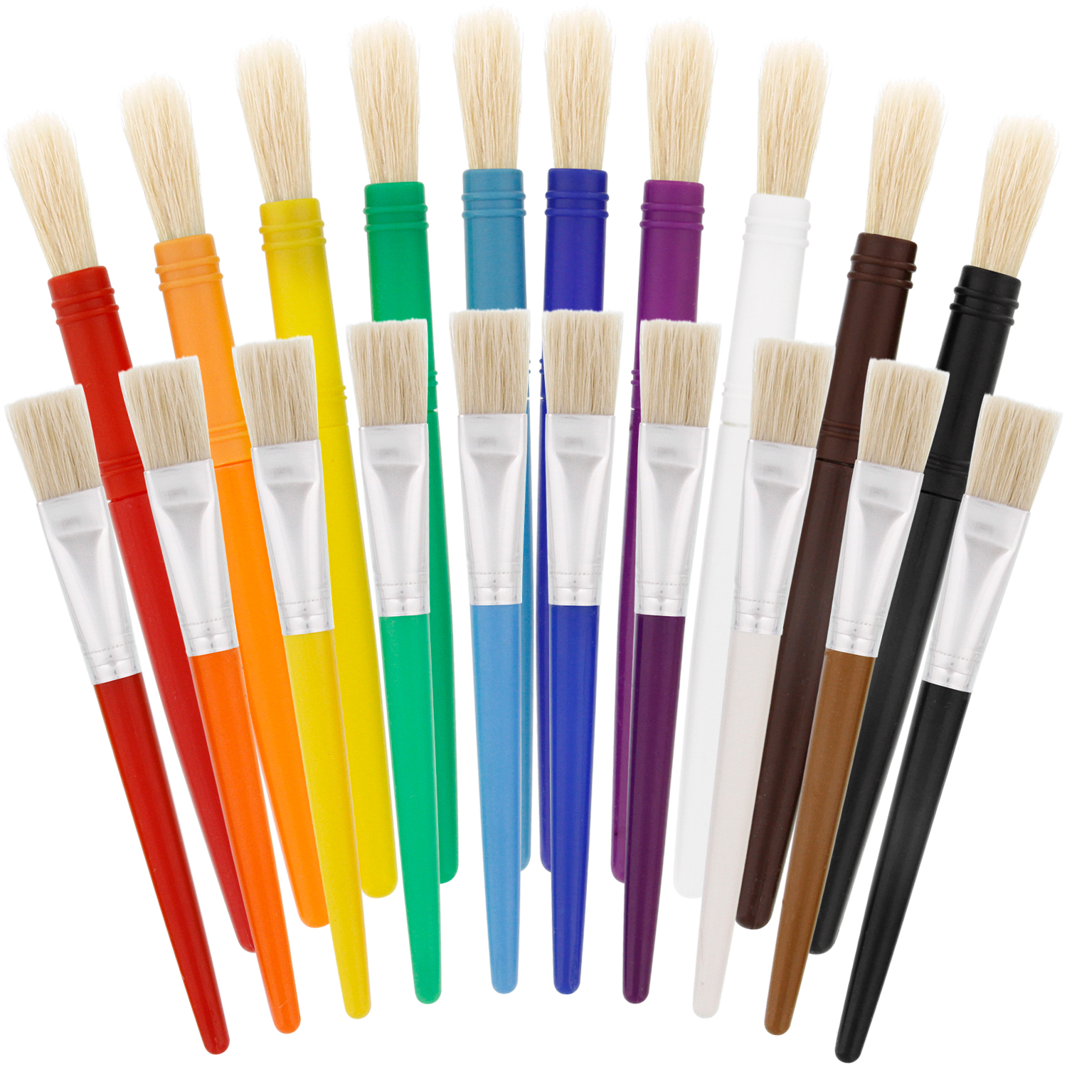Chubby Brushes Colourful Toddler Paint Brushes Set of 4