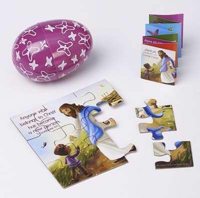 Easter Egg-Jesus Makes All Things New Jigsaw Puzzle And Booklet ( 2 Corinthians 5:17 NLT)