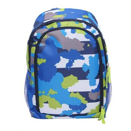 2886f0d8 CRCKT Kids Travel Backpack, Blue Camo Print