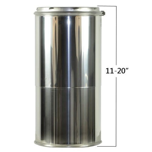 "Shasta Vent 8A-18A 8"" Inner Diameter - Class A Chimney Pipe - Double Wall - 18"""