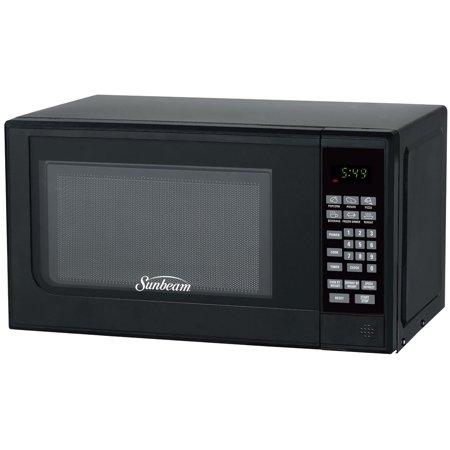 Sunbeam Sgc7702 0 7 Cu Ft 700 Watts Compact Digital Microwave Oven Black