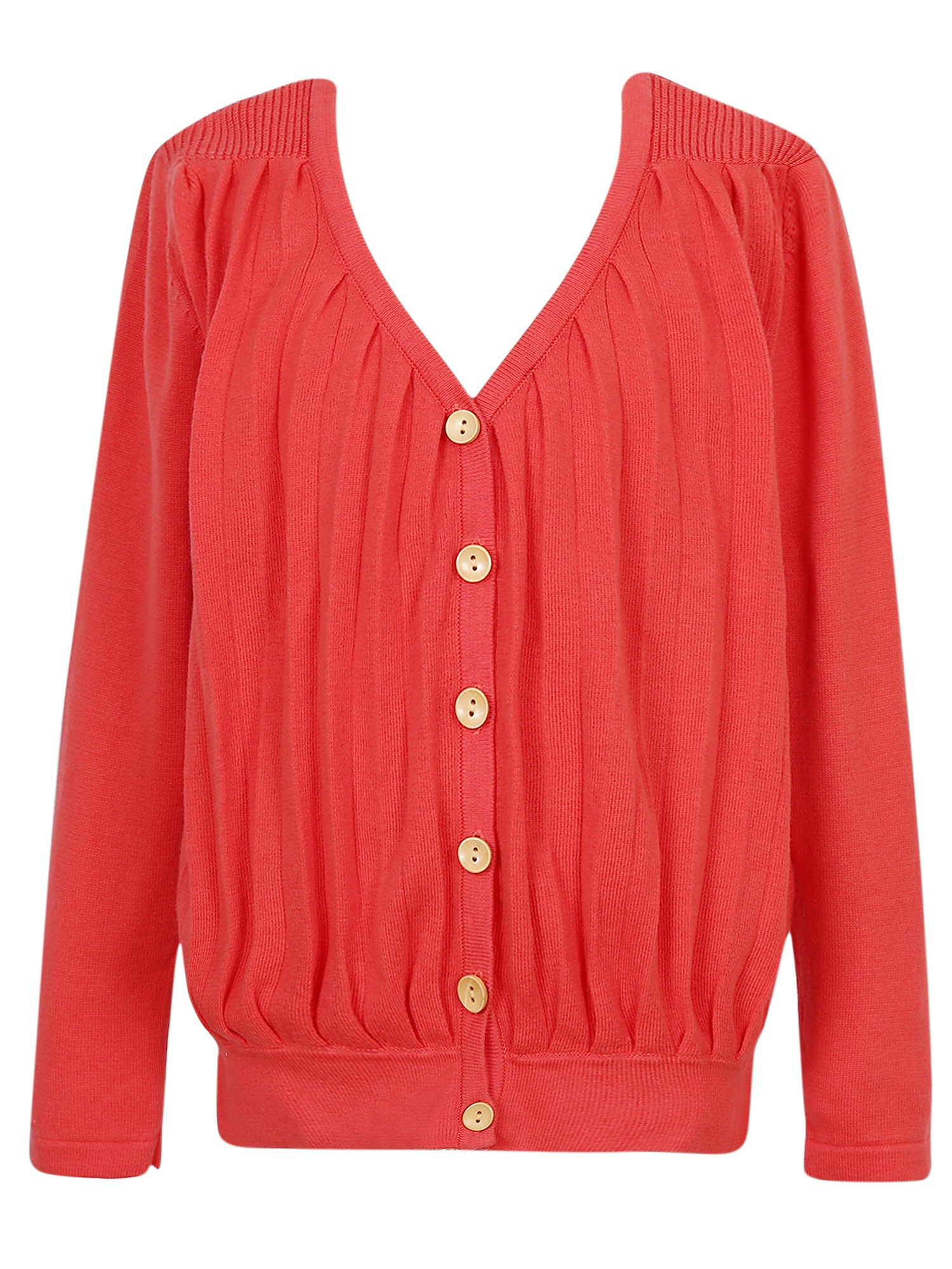 Little Girls Candy Rib Sleeve Hem Button Cardigan Sweater 5