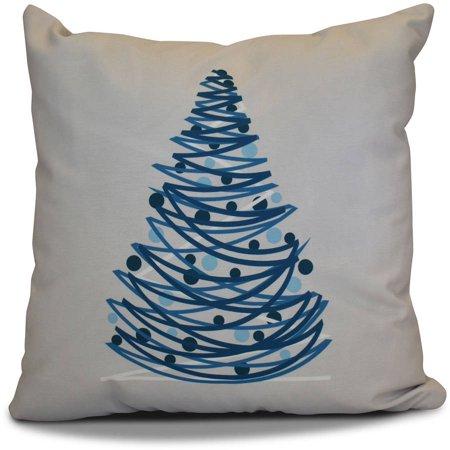simply daisy 16 x 16 oh christmas tree geometric print outdoor pillow - Christmas Outdoor Pillows