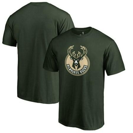Milwaukee Bucks Primary Logo T-Shirt - Hunter Green