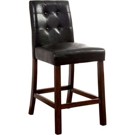 Furniture of America Donna Transitional Counter Height Dining Chair (Set of 2), Brown Cherry ()