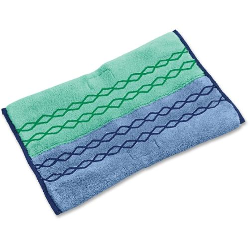 Rubbermaid Pulse Mop Dust/Wet Microfiber Pad - MicroFiber Head - Double-sided - 1 Each - Blue, Green