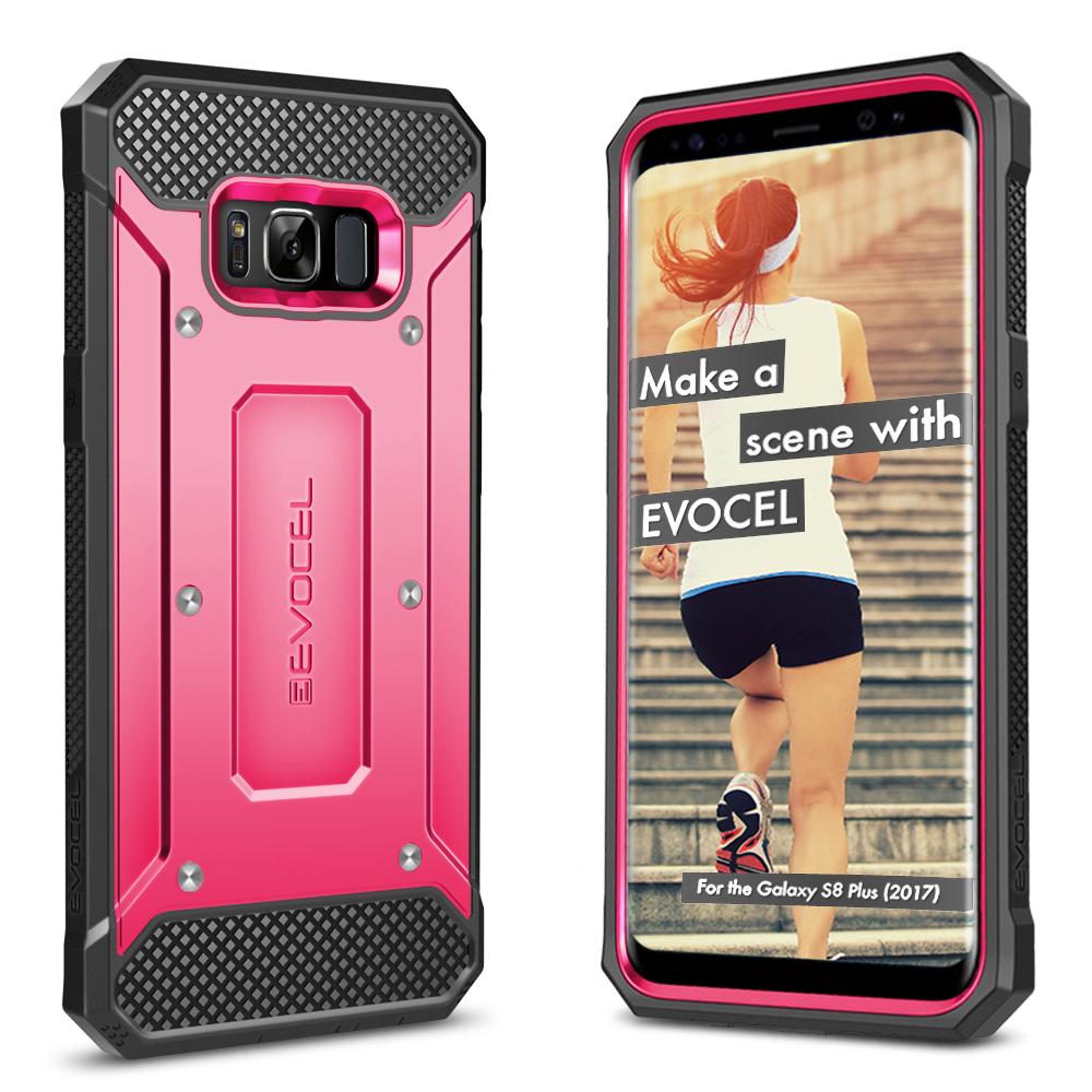 Galaxy S8 Plus Case, Evocel [Belt Clip Holster] [Slim Profile] [Porthole Covers] Explorer Series Phone Case for Galaxy S8+ (SM-G955) (2017 Release), Black
