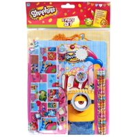 Shopkins 11 Piece Stationery Kit [with Minion Pad]