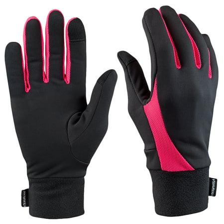 TrailHeads Elements Touchscreen Running Gloves - black / neon