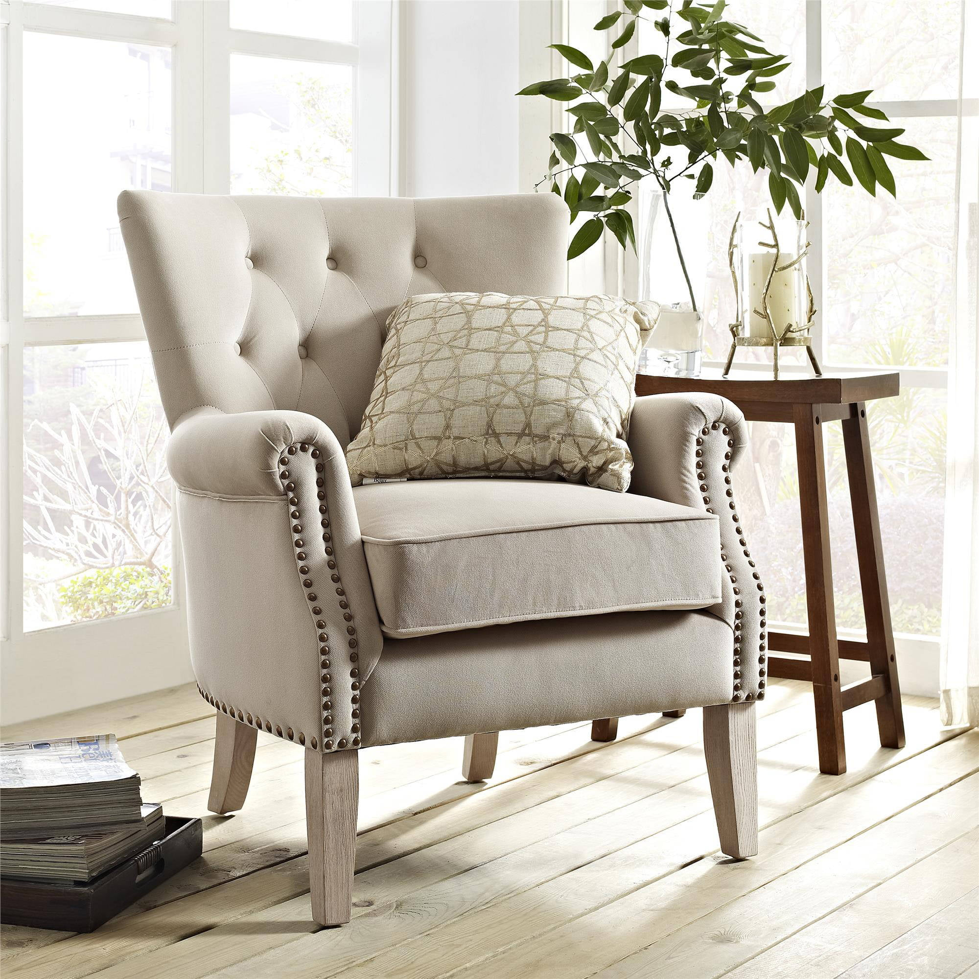 Better Homes & Gardens Rolled Arm Accent Chair, Multiple Colors -  Walmart.com