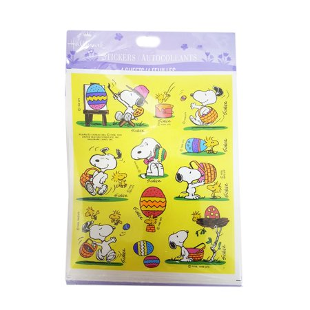 Hallmark Peanuts Easter Snoopy Stickers (44 - Easter Snoopy