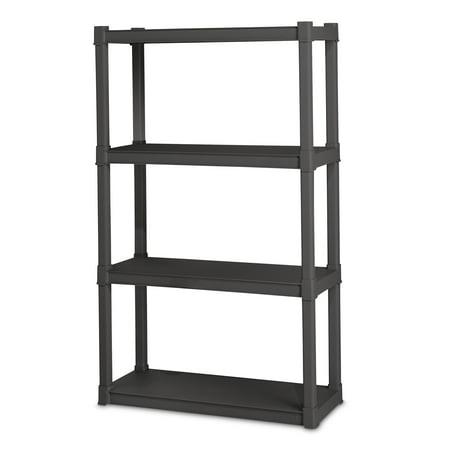 Sterilite, 4 Shelf Unit, Flat Gray Storage Exp Unit