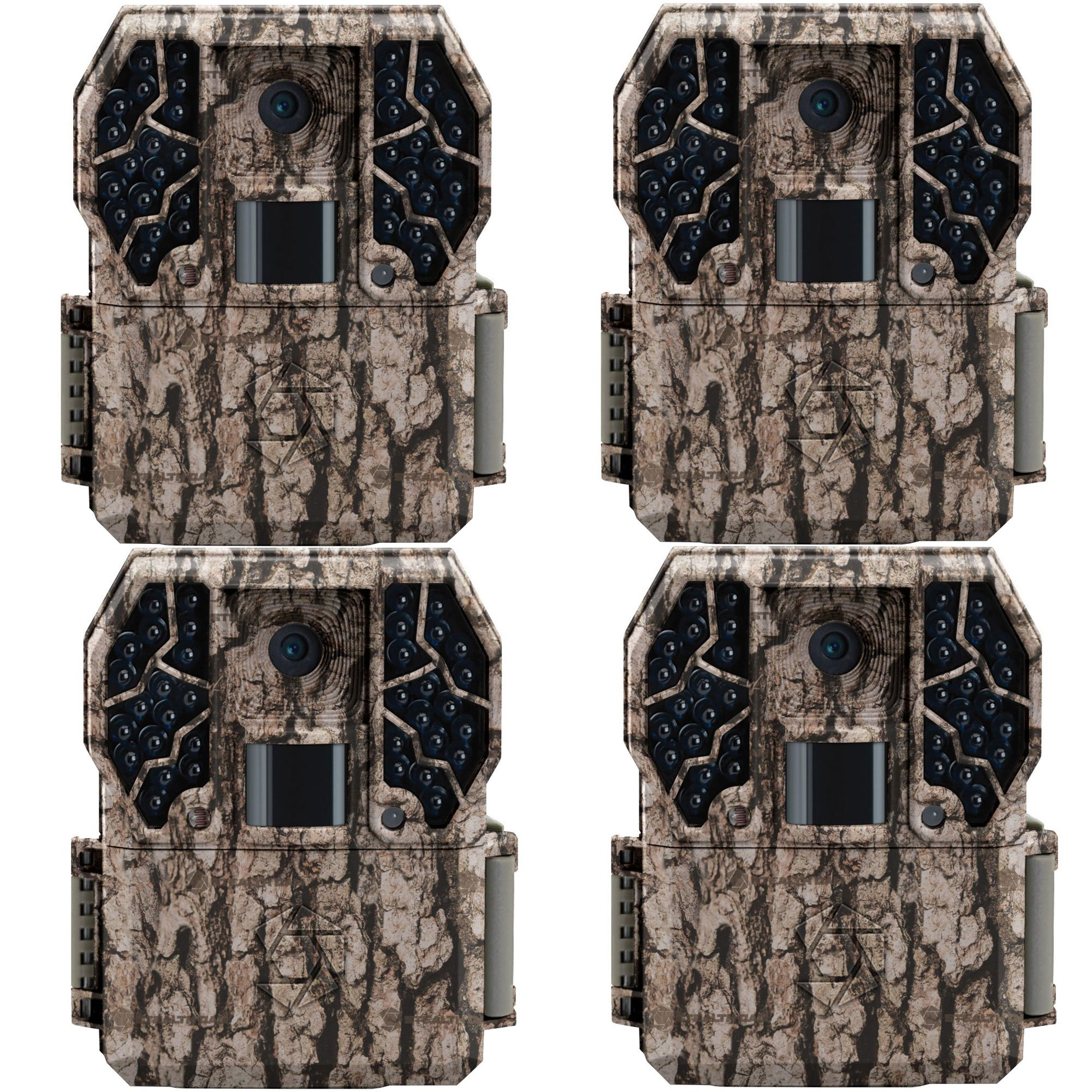 Stealth Cam Z36 No Glo 80' 10 MP 30 FPS Video IR LCD Trail Game Camera (4 Pack) by