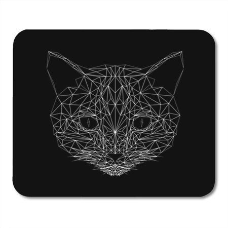 KDAGR Cat Thin Line Low Poly Abstract Mammal Geometric Mousepad Mouse Pad Mouse Mat 9x10 inch