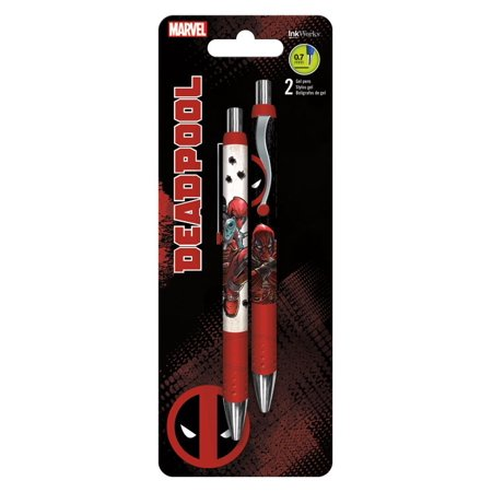 Gel Pen - Deadpool - 2pk New Toys Gifts Stationery iw0108