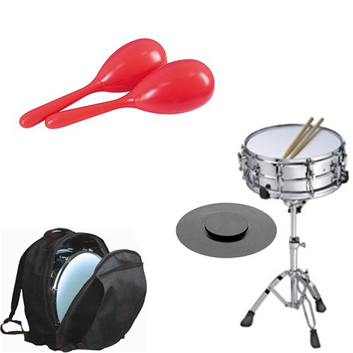 Band Directors Choice Complete Student Snare Drum Kit w Stand, Backpack Carry Bag, Drum... by Band Directors Choice