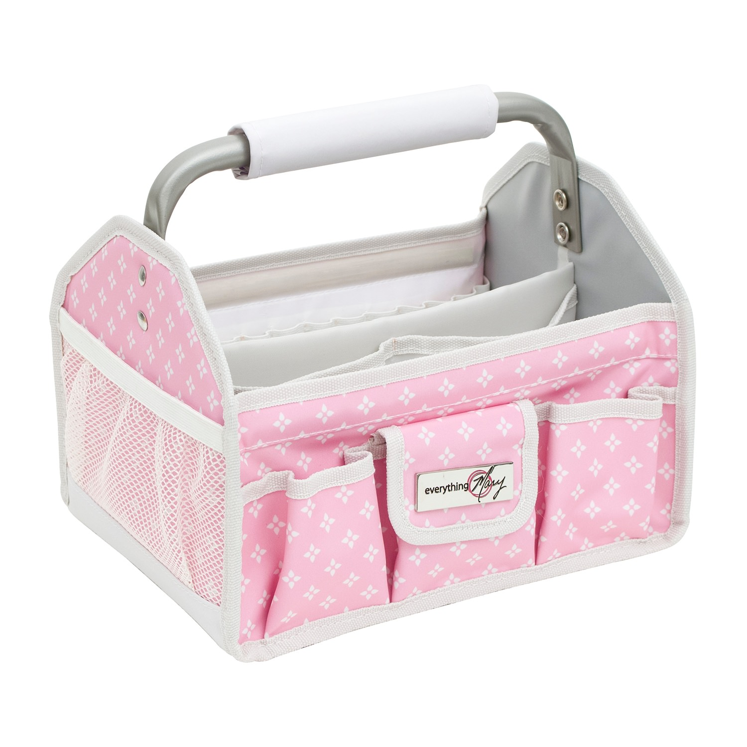 Craft Tool Box With Metal Handle Pink White 2018 Everything Mary