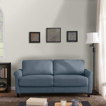 Homesvale Chesten Round Arm Storage Sofa In Plush Low-Pile Velvet ()