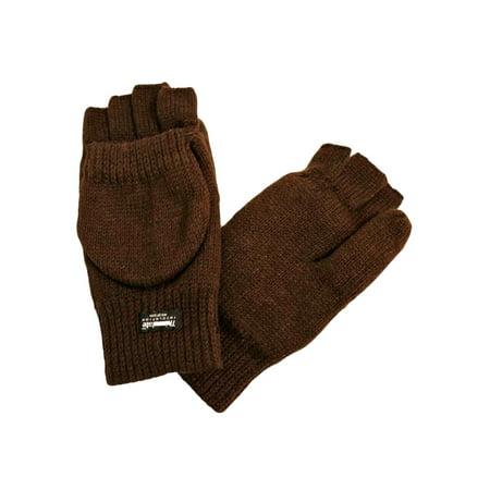 mens rag wool fingerless convertible gloves