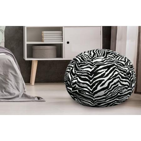 Urban Shop Micromink Faux Fur Zebra Bean Bag