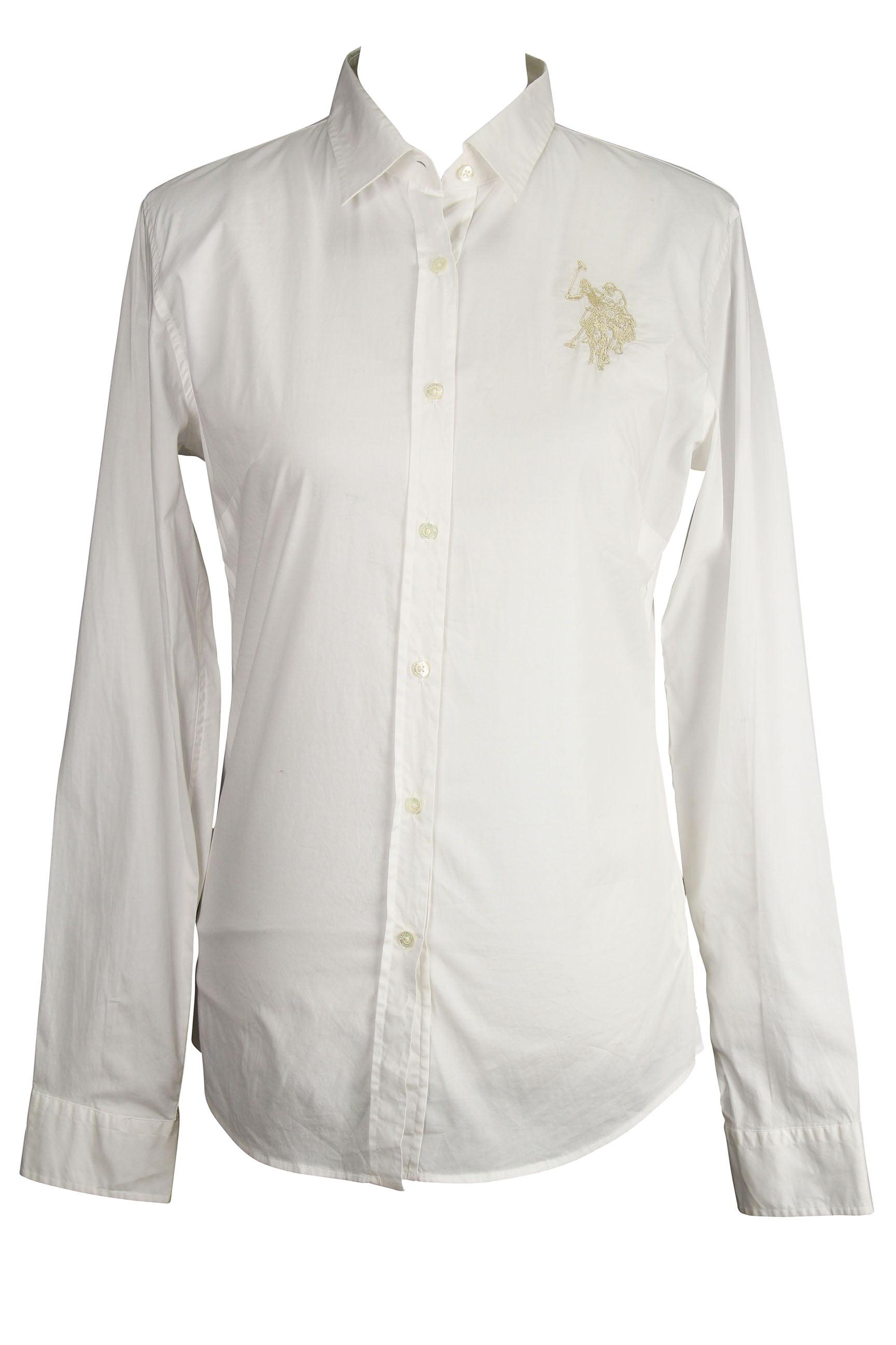 db1dab062 sweden u.s. polo assn. long sleeve womens button down shirt size l us  walmart 6ddea