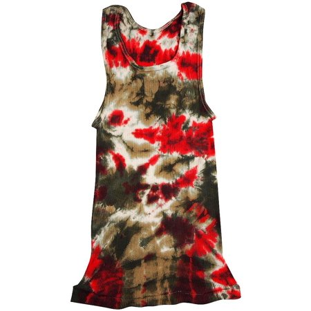 04c1155a822b54 Hanes - Big Girls Ribbed Tie Dye Tank Top tan red   Large - Walmart.com