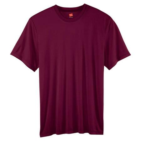 ceffa13cd329 Hanes - Hanes 4820 Cool Dri Men's Performance T-Shirt - Maroon - 2X-Large -  Walmart.com