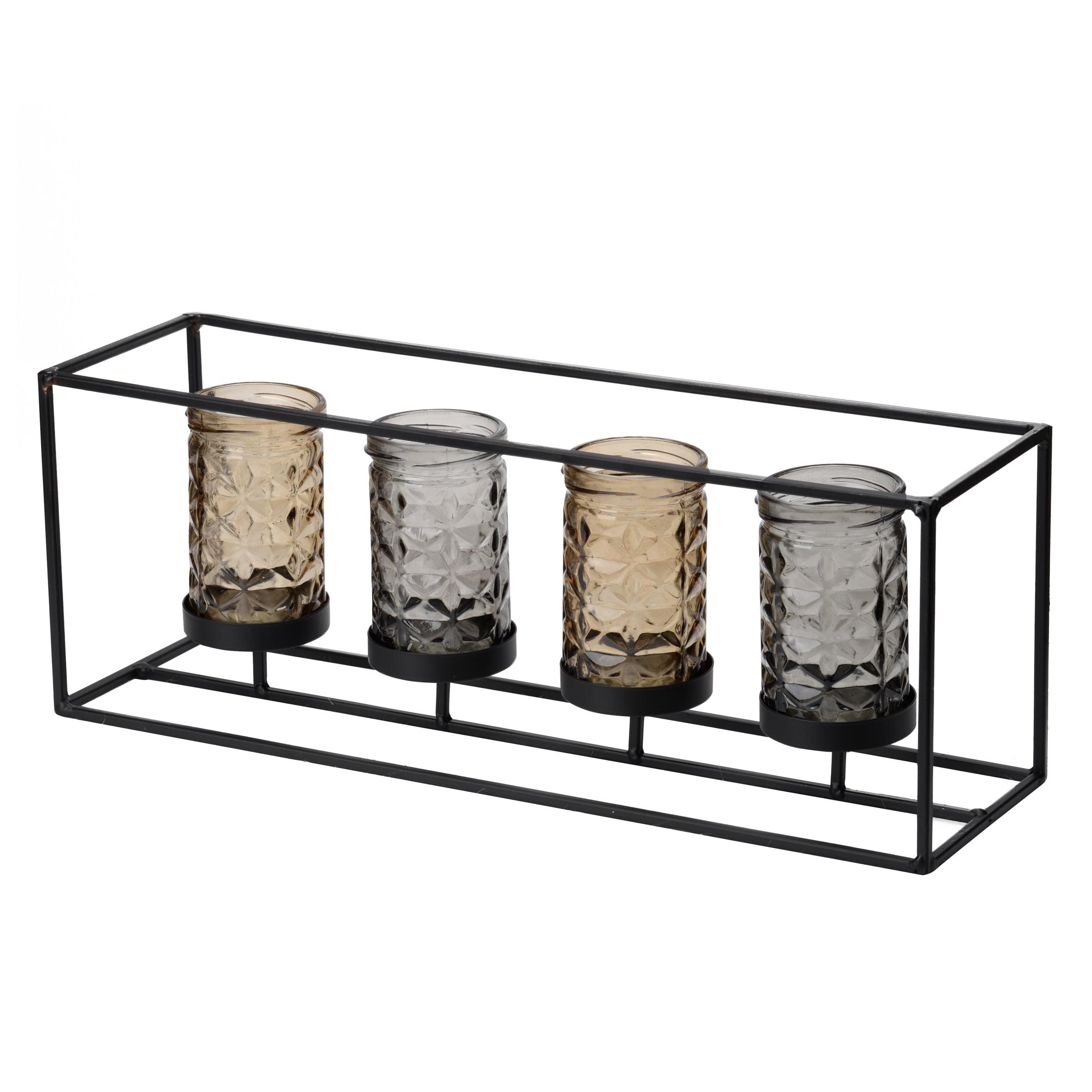 A&B Home Jurupa 4-Jar Candle Holder