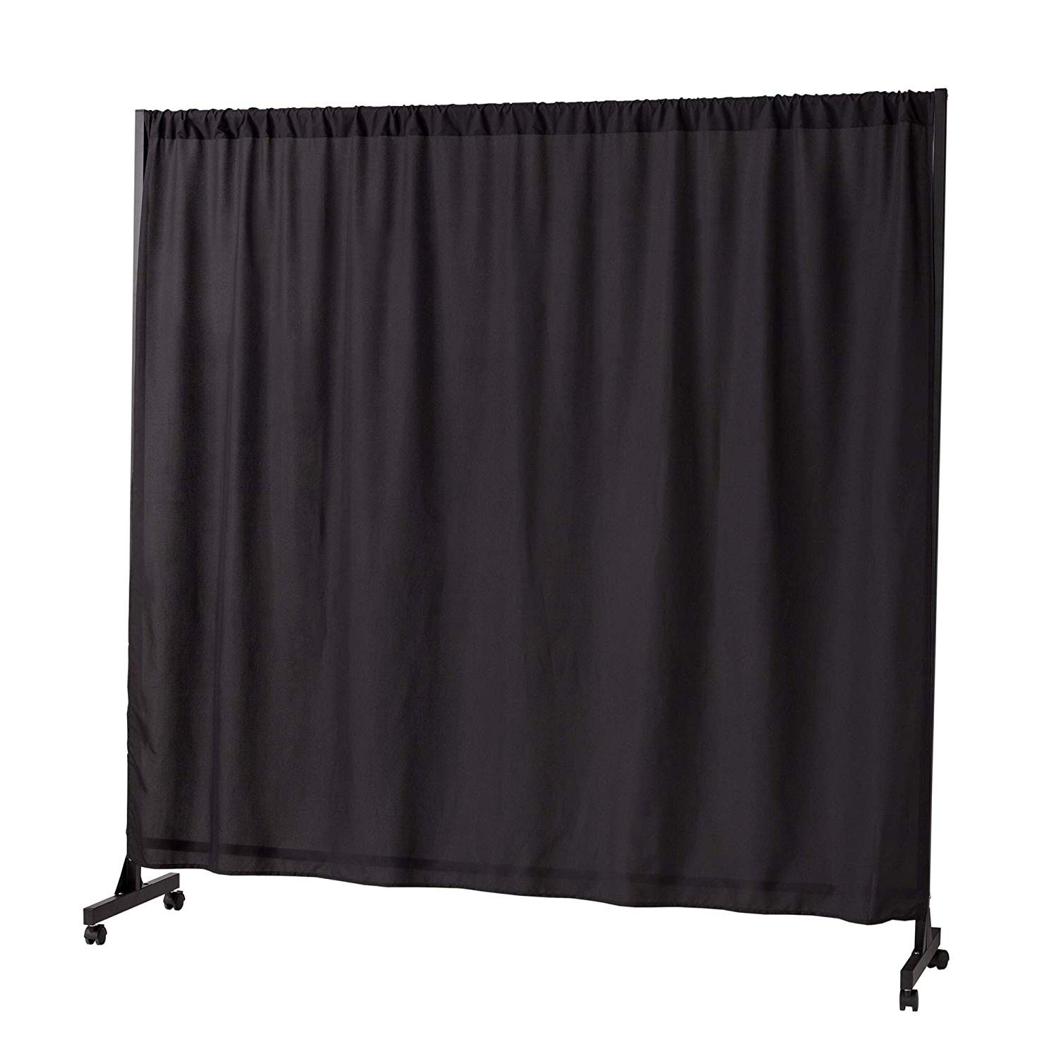 White Frame with White Blackout Fabric Privacy Room Divider Dont Look at Me
