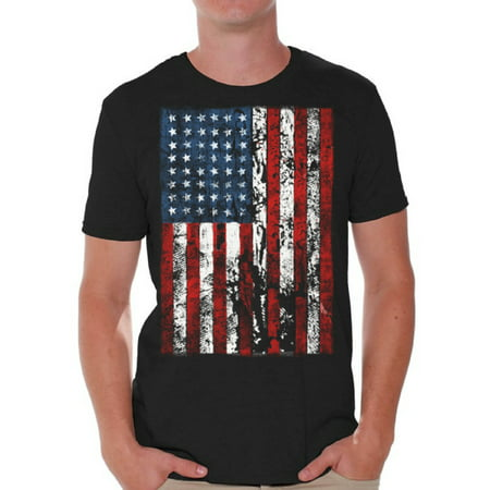 Awkward Styles American Flag Distressed T Shirts for Men USA Shirt USA Flag Mens Tshirt Tops for Independence Day 4th of July Shirts for Men Patriotic Outfit Fourth of July