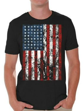 ec0ed80f0119 Product Image Awkward Styles American Flag Distressed T Shirts for Men USA  Shirt USA Flag Mens Tshirt Tops