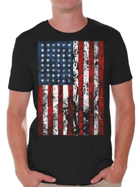 4bd039759 Product Image Awkward Styles American Flag Distressed T Shirts for Men USA  Shirt USA Flag Mens Tshirt Tops