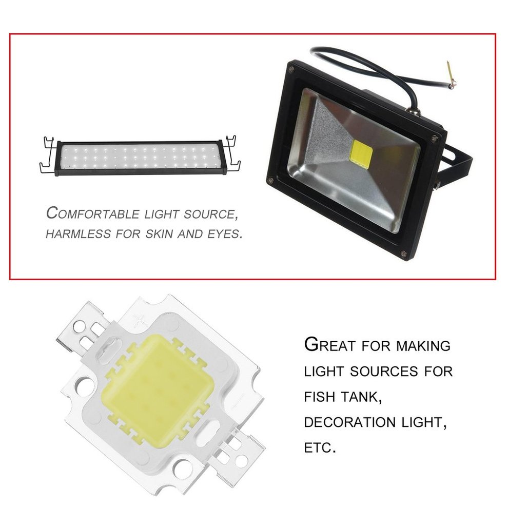 LESHP High Power Pure White COB SMD Led Chip Flood Light Lamp Bead 10W Low Heat Generating Saving Energy Environmentally Friendly