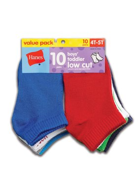 Hanes Low Cut Socks, 10-Pack (Toddler Boys)