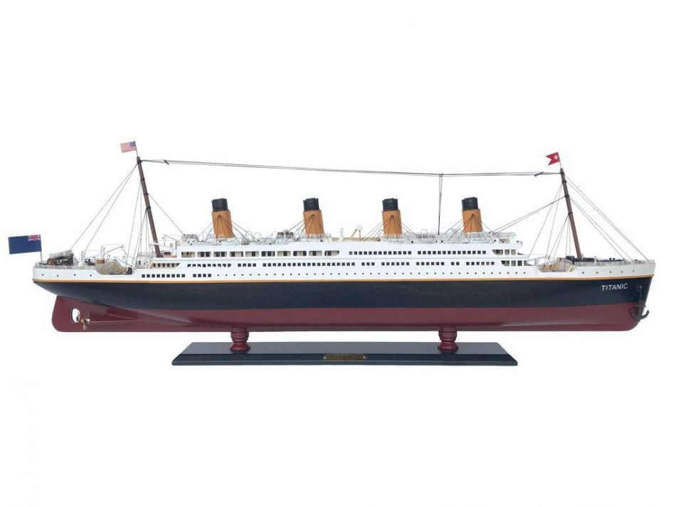 """RMS Titanic 40"""" Limited -Wooden Titanic Ship Replica Scale Model Ship Handcrafted Model Cruise Ship White... by Hampton Nautical"""