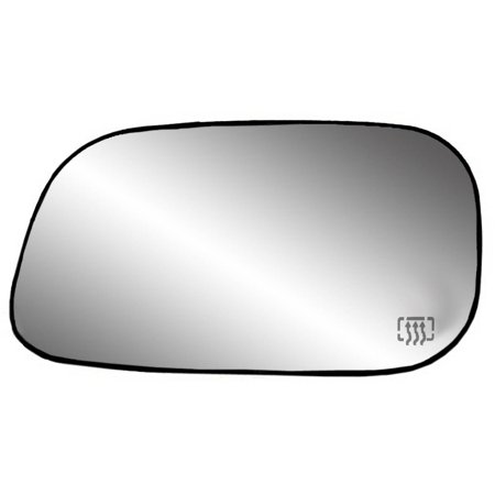 "33252 - Fit System Driver Side Heated Mirror Glass w/ backing plate, Chrysler Aspen 07-09, Dodge Dakota 05-10, Durango 04-09, 5 7/ 16"" x 9 9/ 16"" x 10"" (foldaway mirrors, 6x9)"