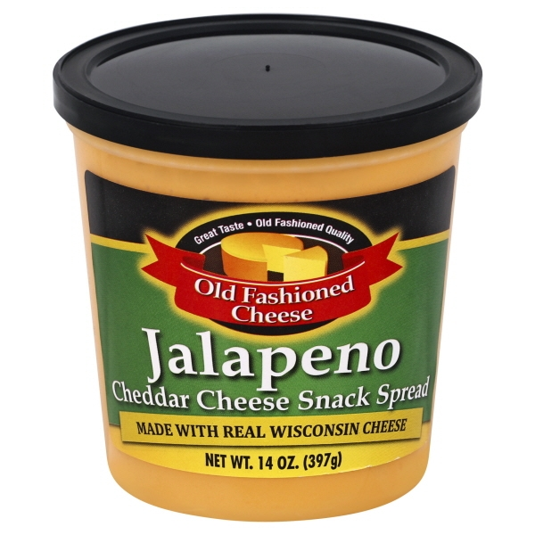 Old Fashioned Cheese Jalapeno Cheddar Cheese Snack Spread, 14 Oz.