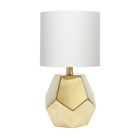 Better Homes & Gardens Faceted Orb Table Lamp, Gold Finish