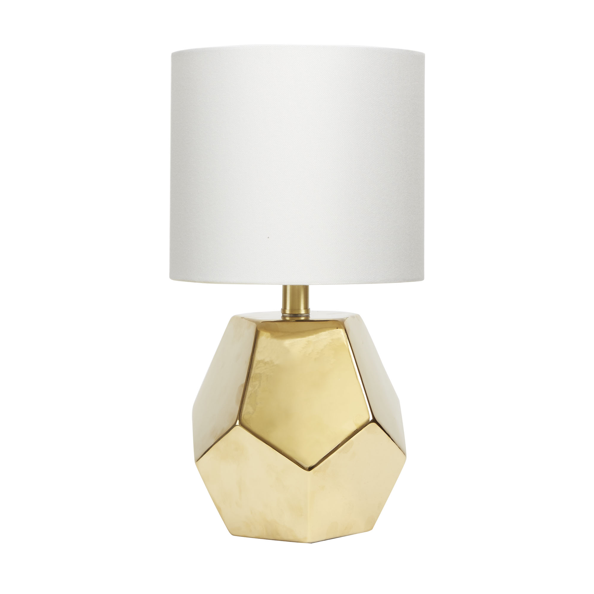 Better Homes U0026 Gardens Faceted Orb Table Lamp, Gold Finish