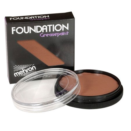 Mehron Foundation Greasepaint - Black And White Makeup For Halloween