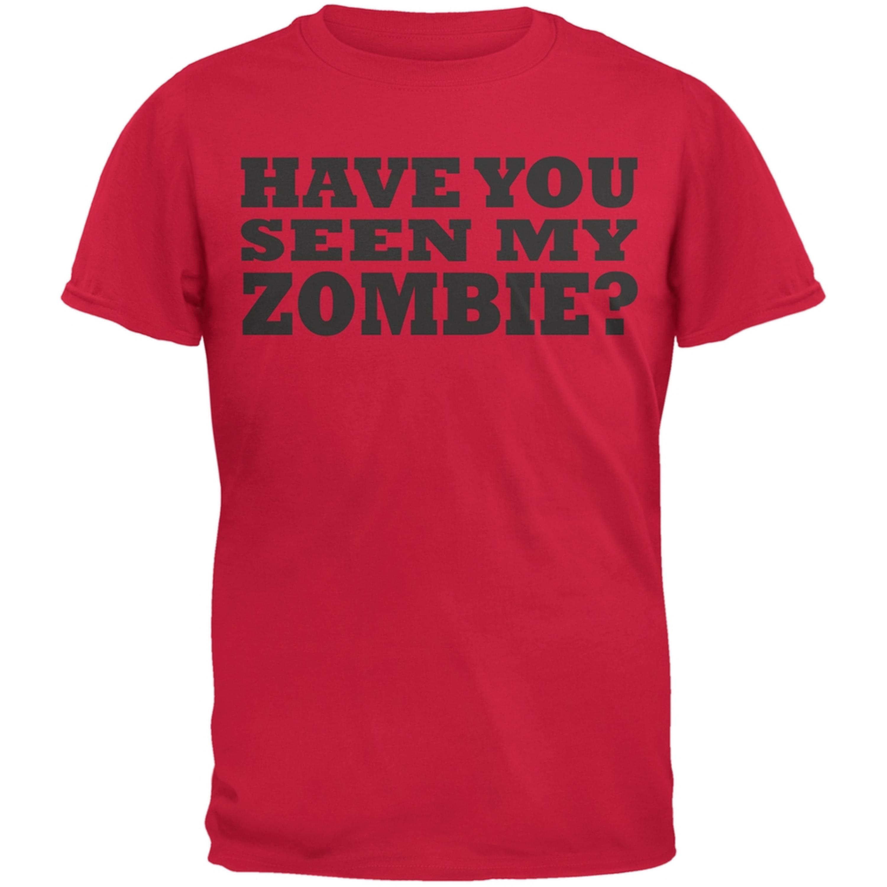 Have You Seen My Zombie Flip Up Red Youth T-Shirt