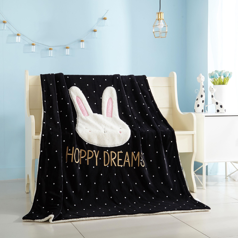Better Homes & Gardens Kids Royal Plush Hoppy Dreams Throw