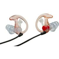 Surefire Ep4 Sonic Defender Plus Earplugs, Medium, Clear Ep4-Mpr